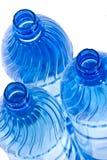 Garrafas de água azuis Imagem de Stock