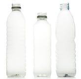 Garrafas de água plásticas Fotos de Stock