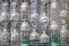Garrafas de água plásticas recicladas Fotografia de Stock Royalty Free