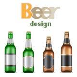 Garrafas de cerveja Foto de Stock