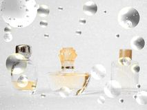 Garrafas de perfume do Natal de Simbols Fotos de Stock