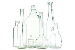 Garrafas de vidro brancas fotografia de stock