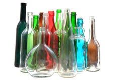 Garrafas de vidro da cor vazia Foto de Stock Royalty Free