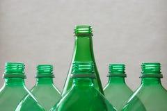 Garrafas de vidro e plásticas Fotos de Stock Royalty Free