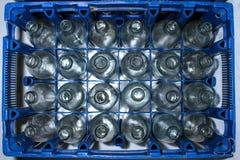 Garrafas de vidro vazias Imagens de Stock