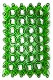 Garrafas de vidro verdes vazias Fotografia de Stock Royalty Free