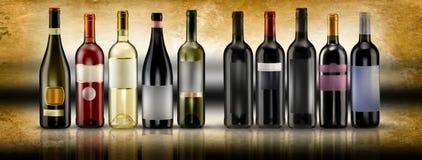 Garrafas de vinho Fotografia de Stock Royalty Free