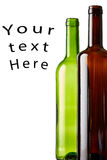 Garrafas de vinho com seu texto aqui Fotografia de Stock Royalty Free