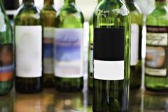 Garrafas de vinho de vidro Imagem de Stock Royalty Free