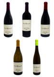 Garrafas de vinho do vinhedo de Niagara Fotografia de Stock Royalty Free