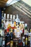 Garrafas do álcool Fotografia de Stock Royalty Free