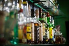 Garrafas do álcool Fotos de Stock