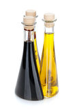 Garrafas do azeite e do vinagre Foto de Stock