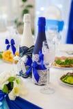 Garrafas do casamento do champanhe Imagem de Stock