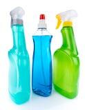 Garrafas do líquido de limpeza de vidro Imagem de Stock Royalty Free
