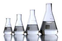 Garrafas do laboratório Imagens de Stock Royalty Free