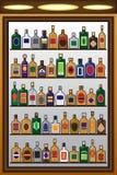 Garrafas do licor ilustração do vetor