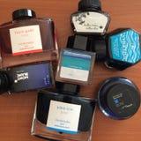 Garrafas do potenciômetro da tinta Fotos de Stock