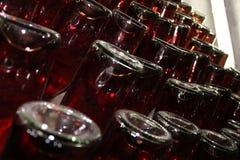 Garrafas do vinho em Cricova, Moldova Imagens de Stock