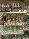 Garrafas e frascos Fotografia de Stock