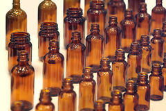 Garrafas pequenas para a medicina Fotografia de Stock Royalty Free