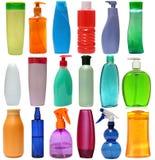 Garrafas plásticas coloridas com sabão líquido e Imagens de Stock Royalty Free