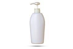 Garrafas plásticas com sabão líquido ou gel do chuveiro Fotografia de Stock