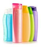 Garrafas plásticas de produtos do cuidado e de beleza do corpo Imagens de Stock