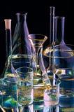 Garrafas químicas Imagens de Stock