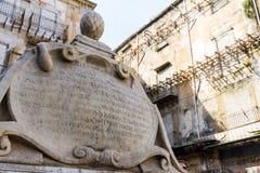 Garraffello fontanna w Palermo, Włochy Zdjęcie Stock