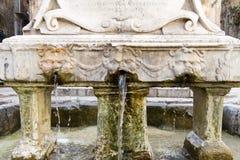 Garraffello fontanna w Palermo, Włochy Obraz Stock