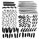Garrancho e ponto tirados mão Jogo do vetor de elementos do projeto Texturas abstratas da tinta ilustração do vetor