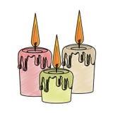 Garrancho isolado velas dos termas ilustração royalty free