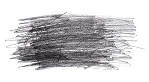 Garranchos da garatuja do lápis isolados no fundo branco Imagem de Stock