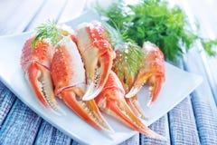 Garras do caranguejo fotos de stock