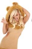 Garras do leão da mulher imagens de stock