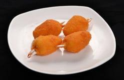 Garras fritadas do caranguejo fotografia de stock royalty free