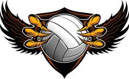 Garras y garras del voleibol del águila ilustración del vector