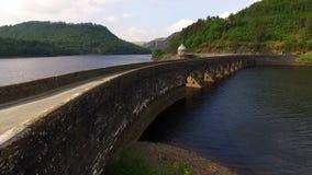 Garreg Ddu Dam, Elan Valley, Wales stock video