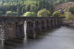Garreg-ddu submerged dam with road on top. Stock Image