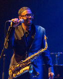 肯尼Garrett执行活在4月28日爵士乐 免版税库存照片