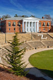 Garrett Hall. With amphitheatre in foreground at UVA Royalty Free Stock Photography