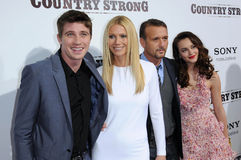 Garrett Hedlund, Gwyneth Paltrow, Leighton Meester, Tim Mcgraw stockfotos
