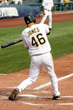 Garrett Jones of  the Pittsburgh Pirates. Swings at a pitch on September 24, 2009 in Pittsburgh, PA Royalty Free Stock Image