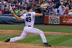 Garrett Olson Pitcher Stock Photo