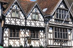 Garrick Hotel, Stratford-sur-Avon Image libre de droits