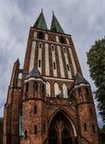 Garrison Church de nuestra señora Queen en Olsztyn Fotografía de archivo