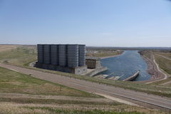Garrison Dam North Dakota Royaltyfri Foto
