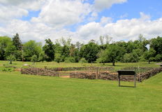 Garrison garden,where soldiers planted vegetables during the war,King's Garden,New York,2014. Garrison garden, set where soldiers planted vegetables to Royalty Free Stock Photo