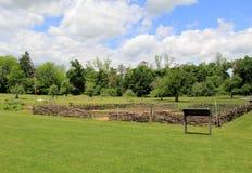 Garrison o jardim, onde os soldados plantaram vegetais durante a guerra, o Jardim do rei, New York, 2014 Foto de Stock Royalty Free